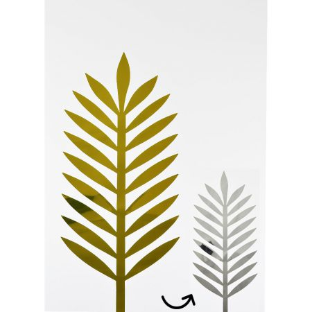 Φύλλο Φοίνικα PVC Χρυσό - Ασημί 43x18cm