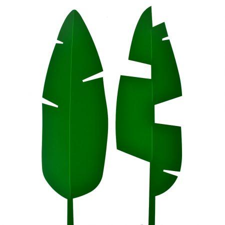 Σετ 2τχ Φύλλο Μπανανιάς PVC Πράσινο σκούρο 67x20cm