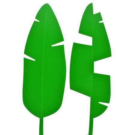 Σετ 2τχ Φύλλο Μπανανιάς PVC Πράσινο 67x20cm