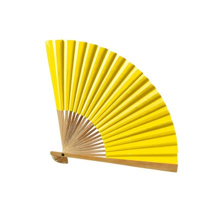 Διακοσμητική βεντάλια χάρτινη Κίτρινη 42cm