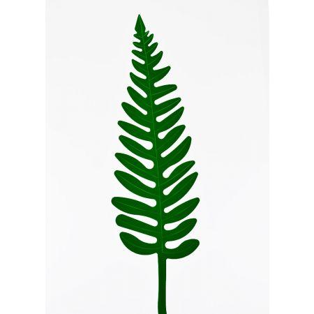 Φύλλο Φτέρης PVC Πράσινο σκούρο 52x15cm