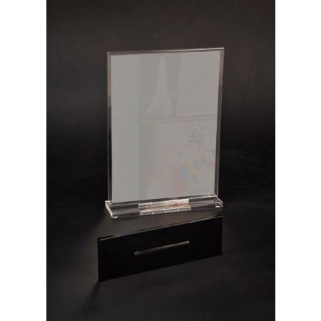 Σταντ εντύπων - τιμών Plexiglass Α4 (22x7x30cm)