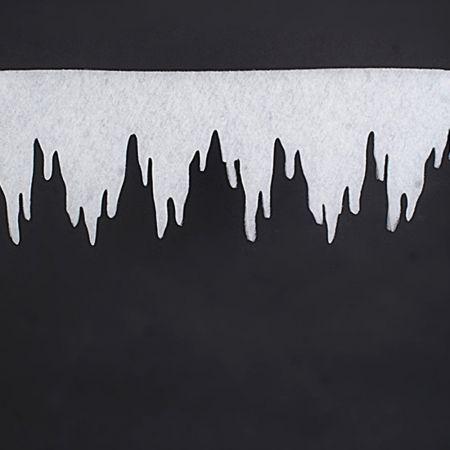 Διακοσμητική γιρλάντα με σταλακτίτες από βάτα 2cm/400x70cm