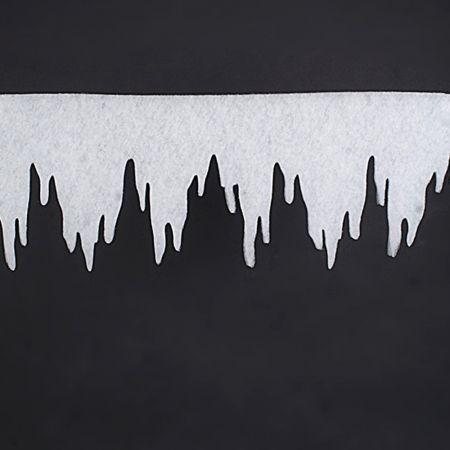 Διακοσμητική γιρλάντα σταλακτίτης από βάτα 2cm/500x33cm