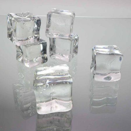 Σετ 6τχ Απομίμηση πάγου - παγάκια 2,8x2,8cm