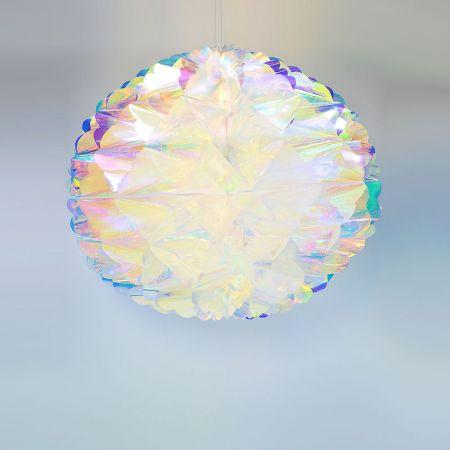 Χριστουγεννιάτικη ιριδίζουσα μπάλα κυψελωτή 60cm