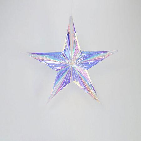 Χριστουγεννιάτικο ιριδίζον αστέρι κατασκευασμένο από πλαστικό διάφανο ιριδίζον - foil.