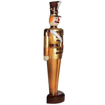 XL Διακοσμητικός καρυοθραύστης χρυσό - καφέ, 63x185cm