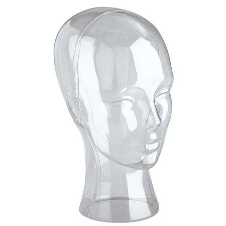 Διακοσμητικό Κεφάλι Γυναικείο Διάφανο 30cm
