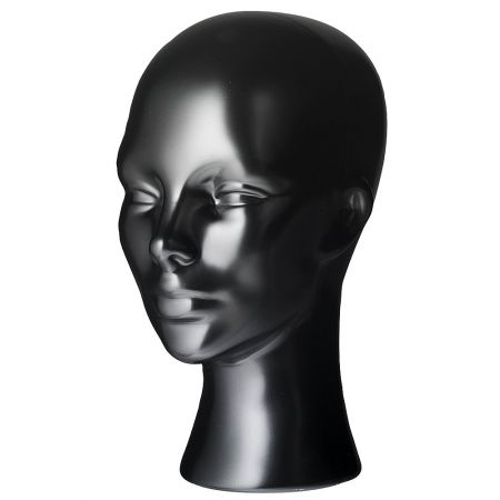 Διακοσμητικό Κεφάλι Γυναικείο Μαύρο 30cm
