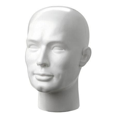 Διακοσμητικό Κεφάλι Ανδρικό Λευκό 30cm