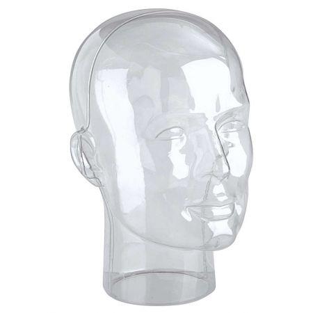 Διακοσμητικό Κεφάλι Ανδρικό Διάφανο 30cm