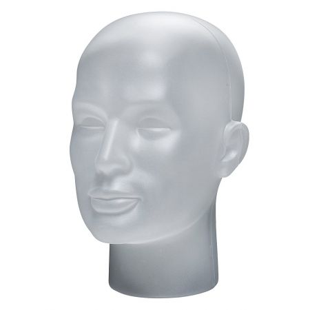 Διακοσμητικό Κεφάλι Ανδρικό Λευκό πάγου 30cm