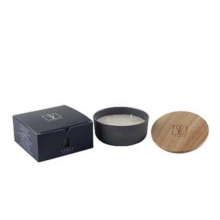 Αρωματικό κερί σε βαζάκι CAMILA Musk & Blackberries 170gr / 11x4,5cm