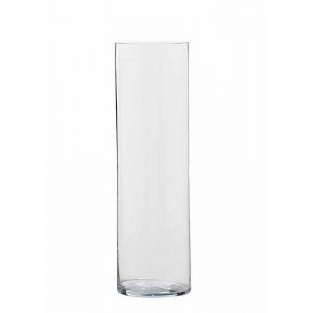 Διακοσμητικό Βάζο Κύλινδρος γυάλινο 19x80cm