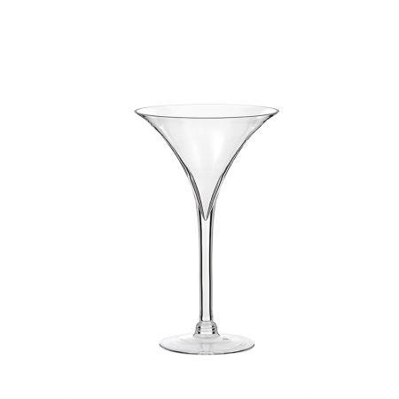 Διακοσμητικό γυάλινο Bάζο - Ποτήρι Martini 25x40cm