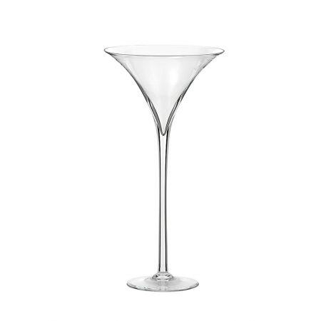 Διακοσμητικό γυάλινο Bάζο - Ποτήρι Martini 24x50cm