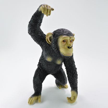 Διακοσμητικός χιμπατζής με το ένα χέρι σηκωμένο 25x21x42cm