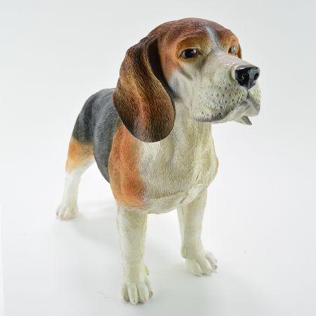 Διακοσμητικός σκύλος Μπιγκλ Polyresin 54x20x37cm