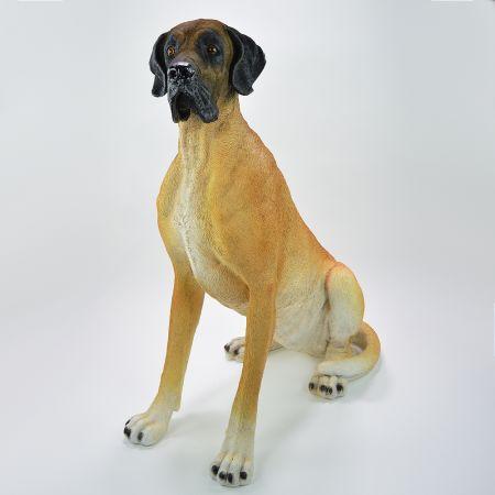Διακοσμητικός σκύλος Μεγάλος Δανός Polyresin 75x45x97cm