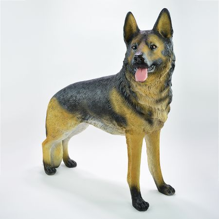 Διακοσμητικός σκύλος Γερμανικός Ποιμενικός Polyresin 97x44x98cm
