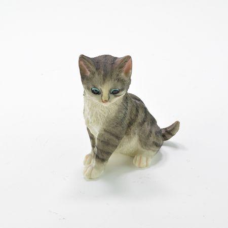 Διακοσμητικό γατάκι καθιστό Polyresin 12x7x13.5cm