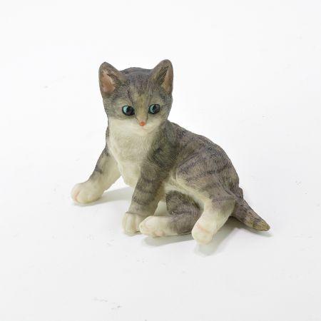 Διακοσμητικό γατάκι ξαπλωτό Polyresin 16x8x11cm