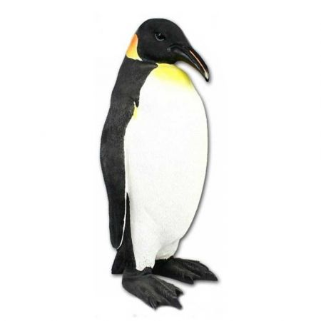 Διακοσμητικός Πιγκουίνος Polyresin Λευκό - Μαύρο 25x22x50cm