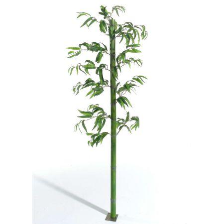 Διακοσμητικός κορμός μπαμπού Πράσινος με φύλλα 180x5cm