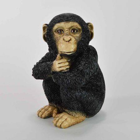 Διακοσμητικό μωρό χιμπατζής που κάθεται 32x18x18cm