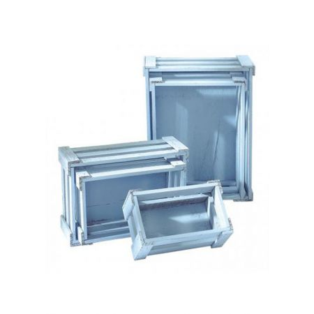 Σετ 5τμχ. Διακοσμητικά Καφάσια Ξύλινα Γαλάζια 37x28.5x15.5cm