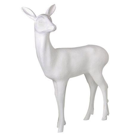 Διακοσμητικό ελάφι όρθιο Λευκό 115x90cm