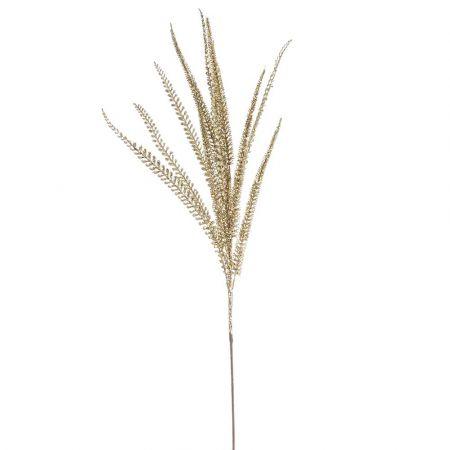 Χριστουγεννιάτικο κλαδί - φτέρη με glitter Χρυσό 90cm