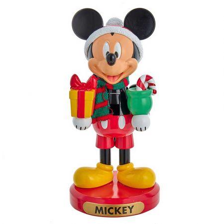 Αυθεντική Χριστουγεννιάτικη φιγούρα Disney - Mickey Mouse - Καρυοθραύστης με δώρα 26cm