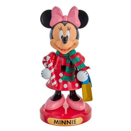 Αυθεντική Χριστουγεννιάτικη φιγούρα Disney - Minnie Mouse - Καρυοθραύστης με δώρα 25,46cm