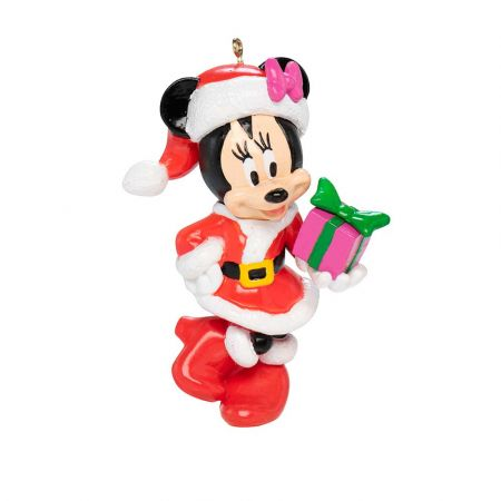 Αυθεντικό Χριστουγεννιάτικο στολίδι Disney© - Minnie Mouse με δώρο 9x6,5x4,5cm