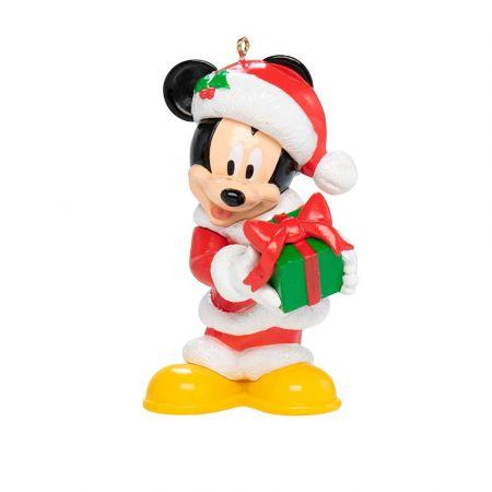 Αυθεντικό Χριστουγεννιάτικο στολίδι Disney© - Mickey Mouse με δώρο 9x6x5,5cm