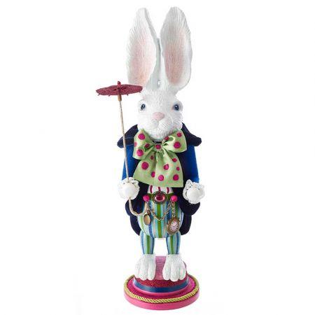 Αυθεντική Χριστουγεννιάτικη φιγούρα Hollywood White Rabbit - Καρυοθραύστης 51m
