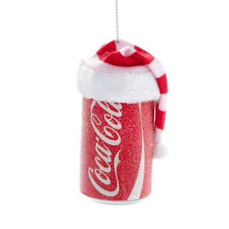 Αυθεντικό Χριστουγεννιάτικο στολίδι κουτάκι Coca-Cola® με σκουφί 8cm