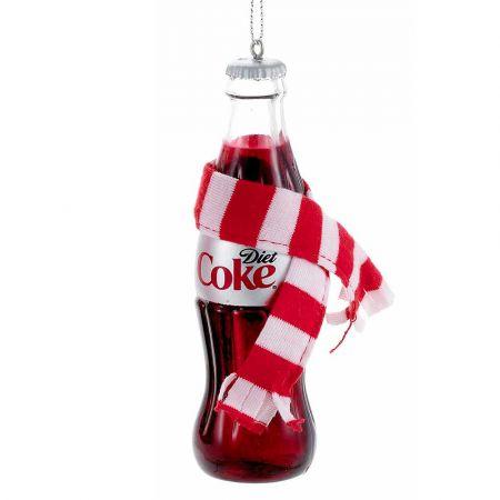 Αυθεντικό Χριστουγεννιάτικο στολίδι μπουκάλι Diet Coca-Cola® με κασκόλ 12cm