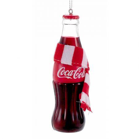 Αυθεντικό Χριστουγεννιάτικο στολίδι μπουκάλι Coca-Cola® με κασκόλ 12cm