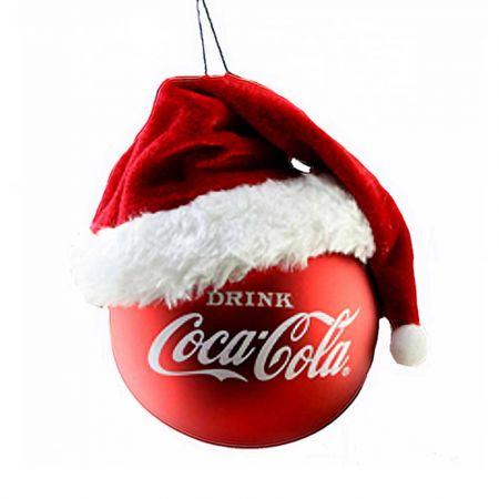 Αυθεντική Χριστουγεννιάτικη μπάλα Coca-Cola® με σκούφο 9,5cm