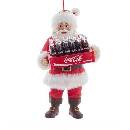 Αυθεντικό Χριστουγεννιάτικο στολίδι Άγιος Βασίλης με καφάσι Coca-Cola® 14,5cm