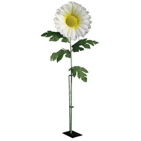 XL Διακοσμητικό λουλούδι μαργαρίτα Λευκό 110cm
