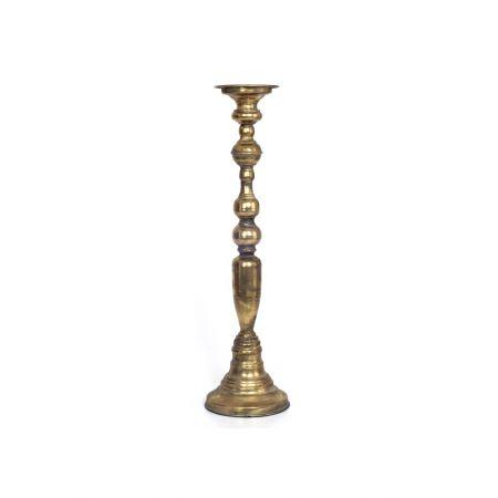 Μεταλλικό κηροπήγιο με παλαιωμένη όψη Χρυσό 15x55cm