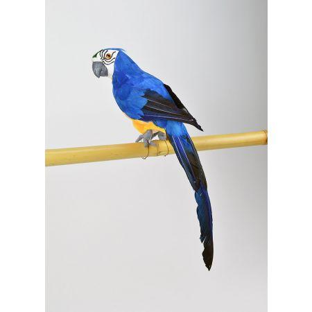 Διακοσμητικός παπαγάλος Μπλε 44cm