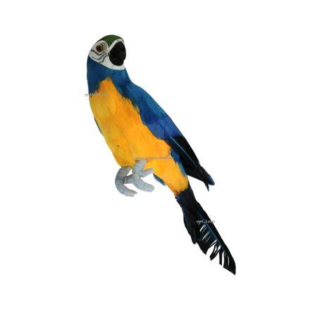 Διακοσμητικός παπαγάλος Mπλέ 34 cm