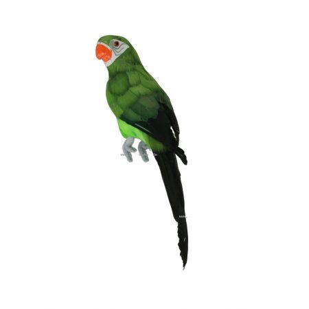 Διακοσμητικός παπαγάλος πράσινος, 34 cm