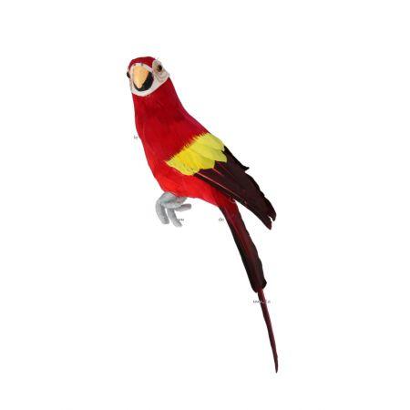 Διακοσμητικός παπαγάλος Κόκκινος 34cm
