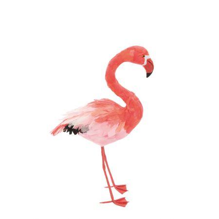 Διακοσμητικό Φλαμίνγκο Ροζ όρθιο 63x33cm